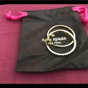 Kate Spade gold scalloped hoop earrings
